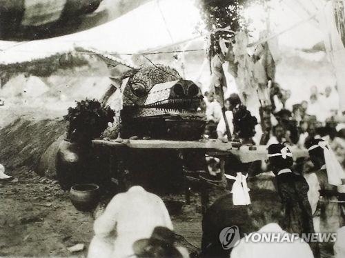 '눈을 내려주소서'…강릉 기우제 '용굿' 시연
