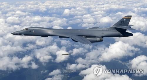 B-1B 폭격기, 다시 한반도에…ADEX 참가 서울공항 저공비행