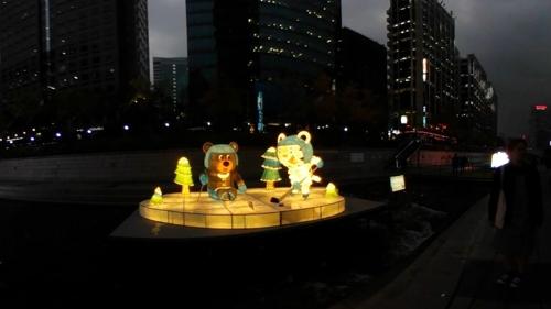 [VR현장] 등불로 환해진 청계천 '2017 서울 빛초롱 축제' 개막