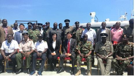 국산 해안 경비정, 케냐 몸바사서 첫 진수식