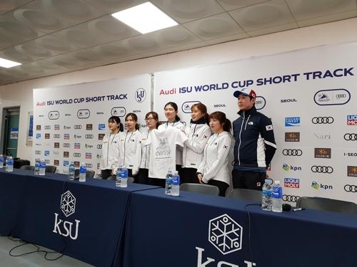 [VR현장] 쇼트트랙 대표팀, 월드컵 4차대회 앞두고 '금메달 다짐'
