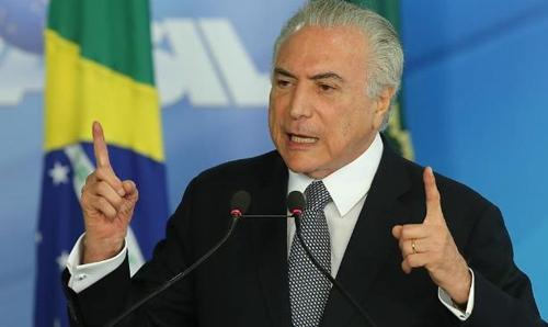 """브라질 테메르 """"연금개혁 올해 이뤄져야""""…대대적 홍보 캠페인"""