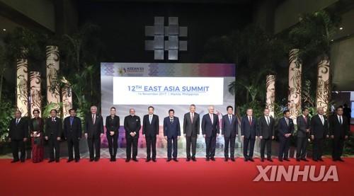 동아시아정상회의 '지각 성명'…일부 정상만 북핵 규탄