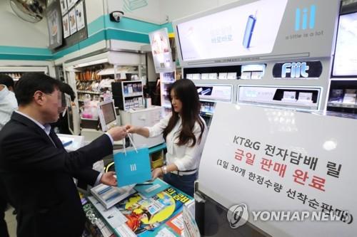 KT&G '릴', 본판매도 '완판'…전자담배 삼파전 가열