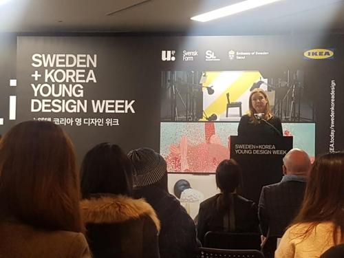'스웨덴-한국 디자인 교류 확대' 신진디자이너 전시회 개막(종합)