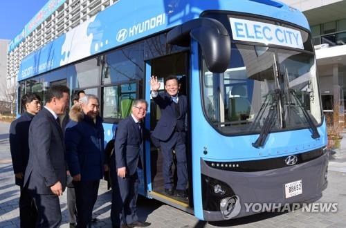 광주시-한전, 전기시내버스 충전 시설 구축