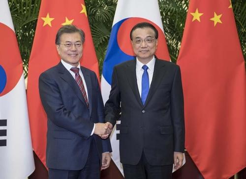 """리커창 """"중한, 협력 영역 넓어…양국관계 개선 희망"""""""