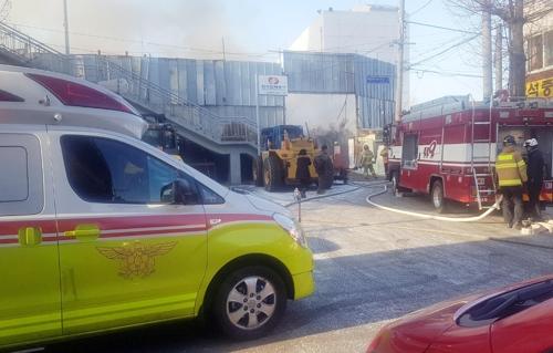 강추위속 인천 시내 금형공장·고물상서 불