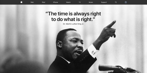 [실리콘밸리 리포트] 애플 홈페이지의 마틴 루터 킹 추모와 애플의 '옳은..