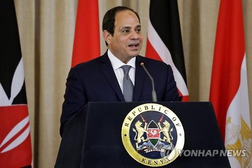 """이집트 엘시시 대통령 재선 출마 공식선언…""""모든 도전 맞설 것"""""""