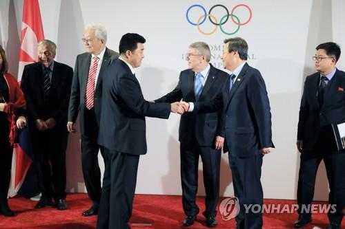 가벼운 마음으로 IOC 평창 회담장 떠난 남북 대표단