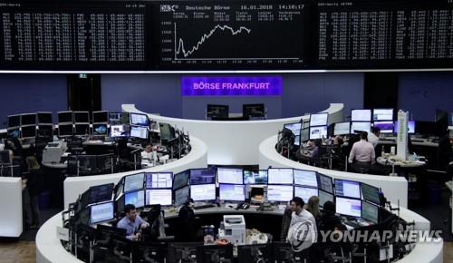 [유럽증시] 미국 셧다운 관망에 혼조…대연정 돌파구 독일↑