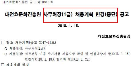 '출범 10개월' 대전효문화진흥원 채용비리 의혹에 신규채용 중단