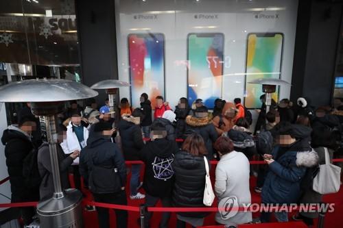 국내서 맥 못추는 아이폰X…두 달간 40만대 판매 그쳐