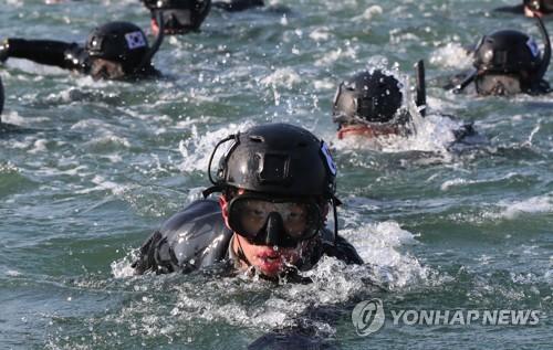 해군 해난구조대, 진해서 동계 혹한기 훈련