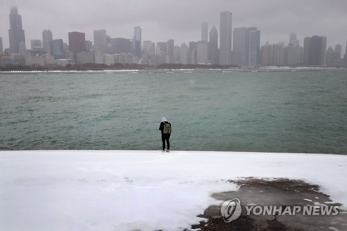 미국 시카고-디트로이트 오대호 연안 또다시 대설경보