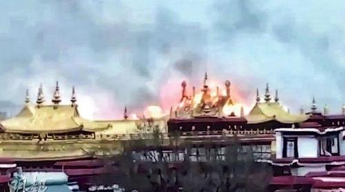 티베트 독립 요구시위 잦은 라싸 '조캉사원'서 큰 불