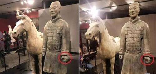 """중국 """"병마용 손가락 절단 강력하게 처벌해야""""…보상도 요구"""