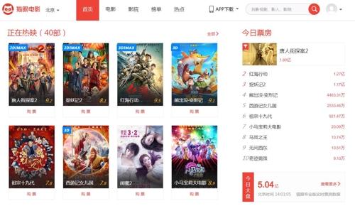 中 춘제 당일 박스오피스 2천220억원…역대 최고 기록 경신