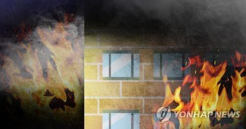 광주 도심서 모텔 화재…인명피해 없이 진화(종합)