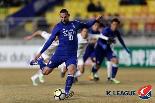 '데얀 PK 실축' 수원, AFC 챔피언스리그 가시마에 패배