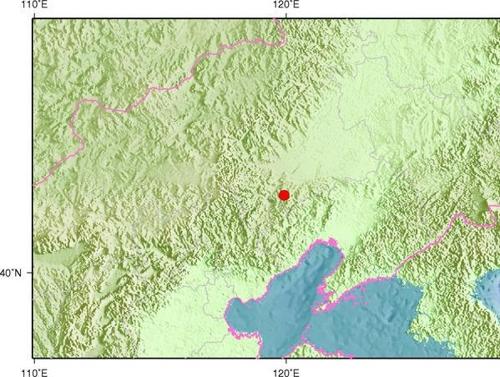 중국 네이멍구 츠펑시 아오한치서 규모 3.5 지진 발생