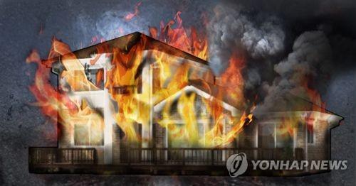 청주서 단독주택 화재…1명 화상