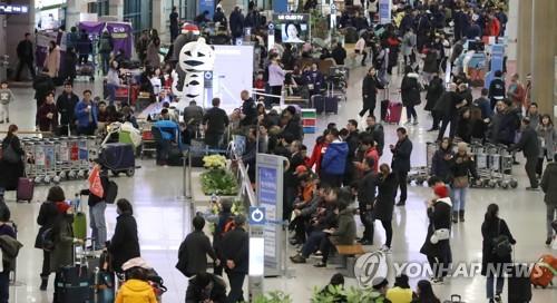 2월 중국인 입국자 13.8% 증가…춘절 연휴 효과