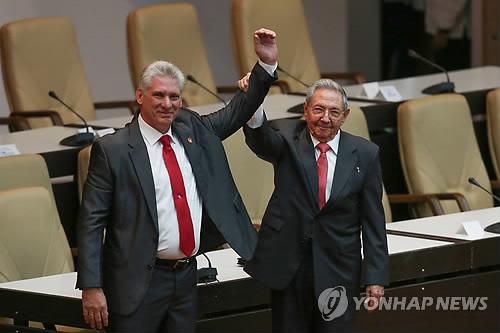 北김정은, 디아스카넬 쿠바 신임 국가평의회 의장에 축전