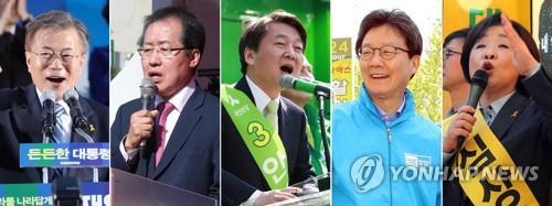 El candidato presidencial favorito Moon amplía su brecha con Ahn