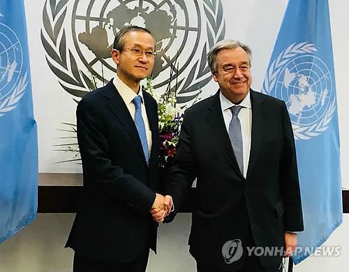 Un alto diplomático de Corea del Sur solicita el apoyo del jefe de la ONU para unas 'olimpiadas de la paz'