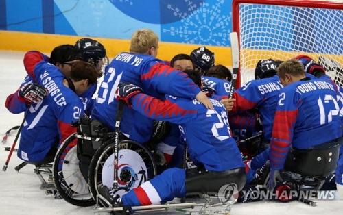 (AMPLIACIÓN)- Corea del Sur gana la medalla de bronce en 'hockey' sobre hielo en las Paralimpiadas de PyeongChang