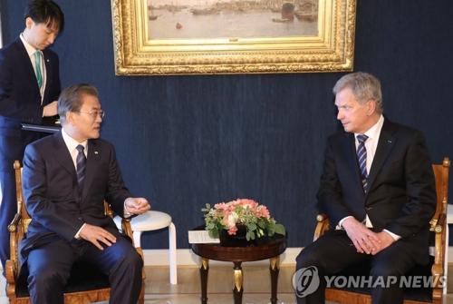 (AMPLIACIÓN) Corea del Sur y Finlandia afirman una estrecha relación sobre la paz y nuevas industrias