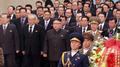 Kim Jong-un au mausolée de Kumsusan à l'occasion du 75e anniversaire de son père
