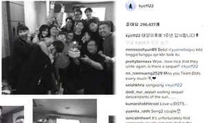"""[한줄 연예담] 송혜교 """"태양의 후예 1주년 감사합니다"""" 外"""
