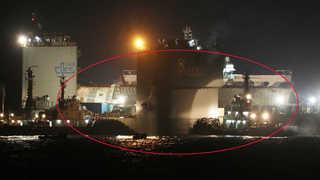 세월호, 반잠수식 선박 거치 위치 조정 성공…인양 9부 능선 넘어