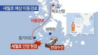 '마지막 항해' 앞둔 세월호…이동경로는?