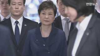 [현장영상] 박근혜 전 대통령, 자택서 법원까지 '기나긴 11분'