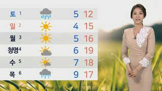 [날씨] 내일 전국 흐리고 '봄비'…곳곳 돌풍ㆍ벼락 '주의'