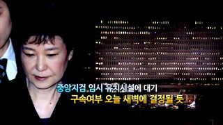 [영상구성] 영장 심사 받은 박 전 대통령, 구속여부 오늘 새벽에 결정