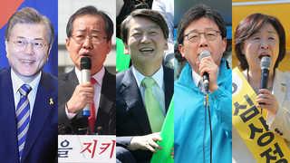 휴일 유세 총력전…TV 토론회 준비 매진