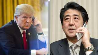 트럼프, 아베와 대북공조 협의…시진핑과도 통화 예정
