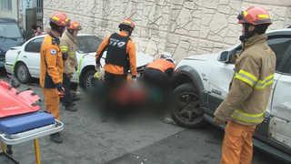 해운대 내리막길 차량 9대 추돌…보행자 덮쳐 5명 사상
