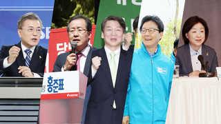 안철수 하락세에 '문재인 1강' 구도로…홍준표ㆍ심상정 상승