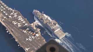 미국 핵항모 칼빈슨, 일본 규슈 나가사키 앞바다까지 북상