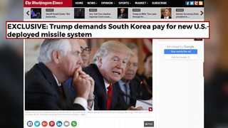 """트럼프 """"왜 우리가 내나…한국이 사드비용 지불해야"""""""