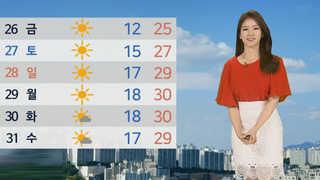 [날씨] 전국 대체로 맑음…충청이남 출근길 짙은 안개