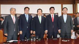 [현장연결] 국회의장-4당 원내대표단 정례회동