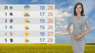 [날씨] 내일 '단오' 남부 폭염…오전까지 미세먼지 일시 '나쁨'