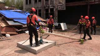 경주서 도심 7.5 지진발생 대비 가상 구조훈련